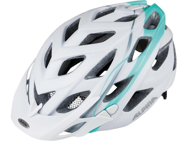 Alpina D-Alto L.E. Cykelhjälm vit/turkos